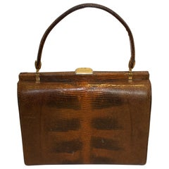 Vintage Brown Lizzard Bag