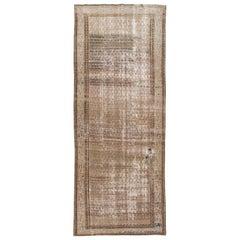Vintage Brown Malayer Handmade Wool Runner
