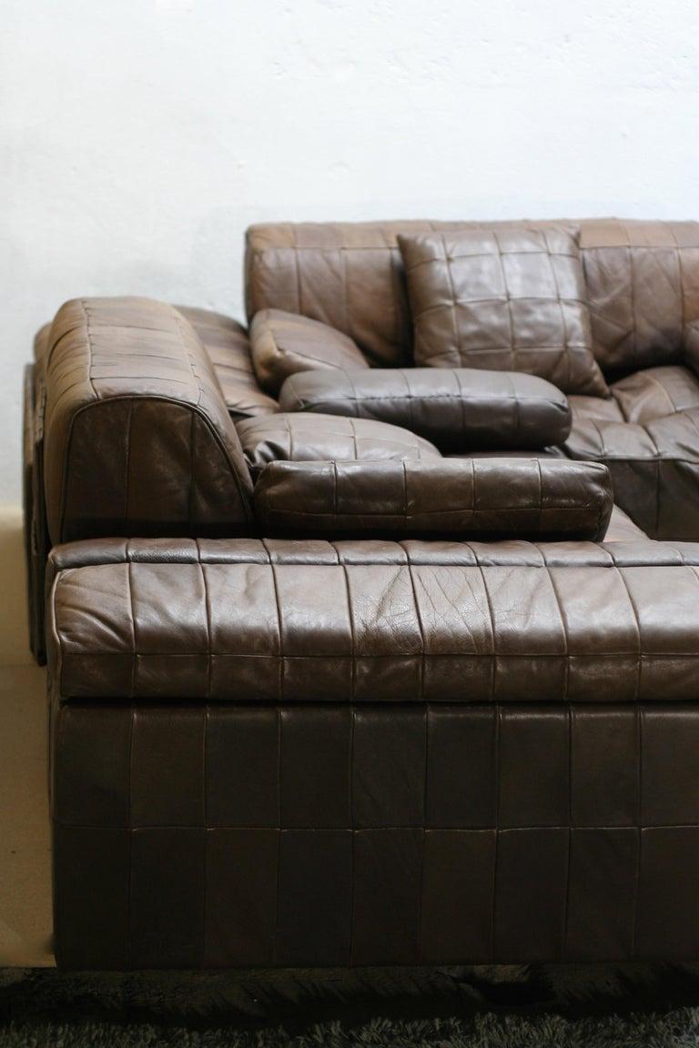 Vintage Brown Modular Patchwork Leather Sofa Ds88 De Sede