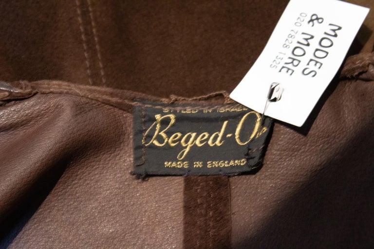 Vintage Brown Suede Waistcoat For Sale 1