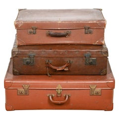 Vintage Brown Suitcases / Trunks, 20th Century