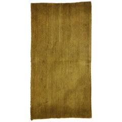 Vintage Brown Tibetan Accent Rug with Minimalist Style
