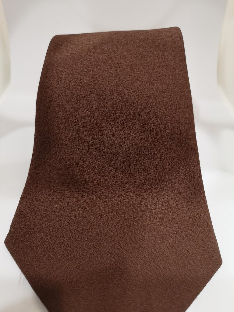 Vintage brown tie In Good Condition For Sale In Capri, IT