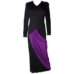 Vintage Bruce Oldfield Purple and Black Gown