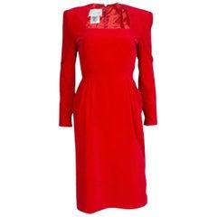 Vintage Bruce  Oldfield  Red Velvet Dress