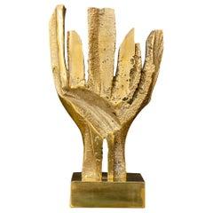 Vintage Brutalist Brass Statue