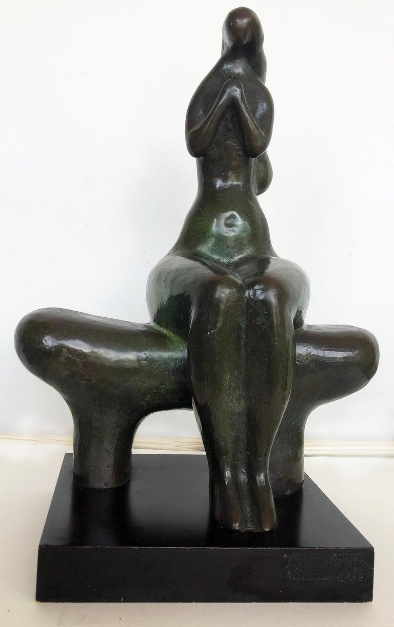 Vintage Brutalist Bronze Nude Sculpture by Dorter Berner, Namibia For Sale 3