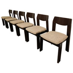 Vintage Brutalist Dining Chairs, Set of 6, 1960s