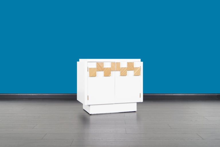 Mid-20th Century Vintage Brutalist Mosaic Nightstands by Lane For Sale
