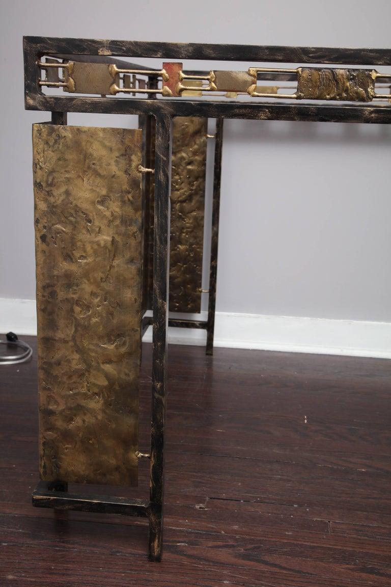 Vintage Brutalist Table Base by Silas Seandel For Sale 5