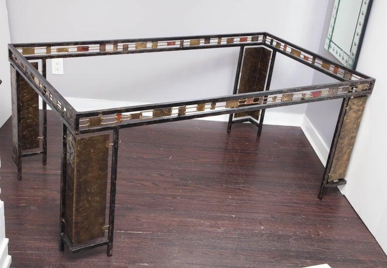 American Vintage Brutalist Table Base by Silas Seandel For Sale