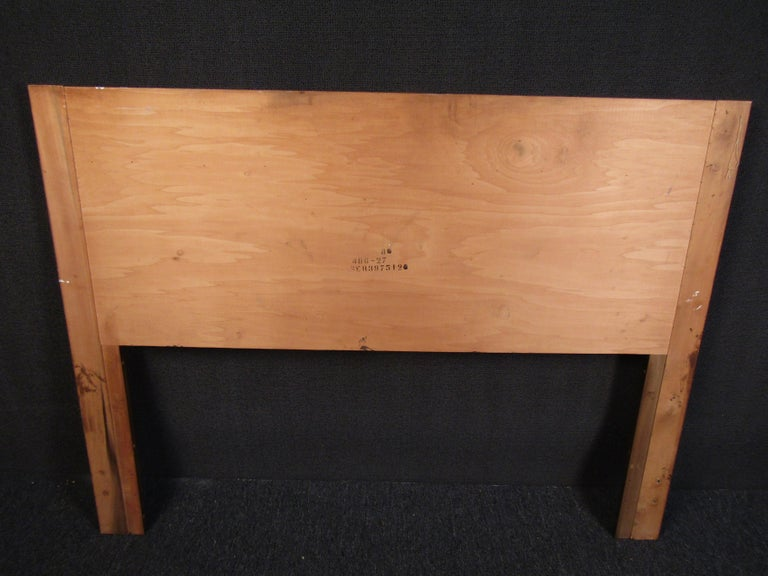 20th Century Vintage Brutalist Wooden Headboard by Lane Furniture For Sale
