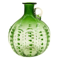 Vintage Bubble Green Vase, Germany, 1930s