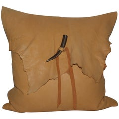 Vintage Buckskin Custom Pillow with Horn Latch
