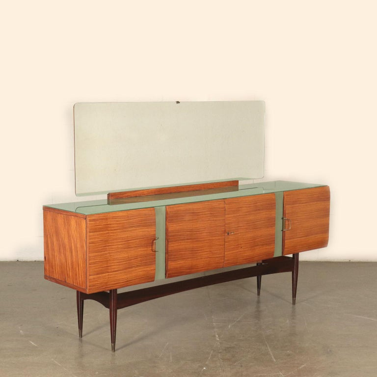 Vintage Buffet with Mirror Italy, 1950s For Sale 5