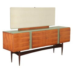 Vintage Buffet with Mirror Italy, 1950s