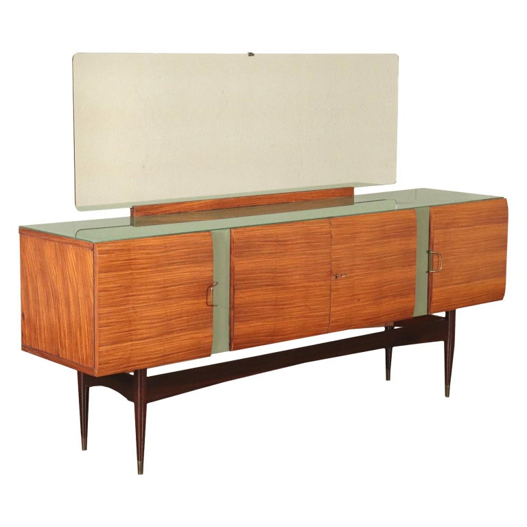 Vintage Buffet with Mirror Italy, 1950s For Sale