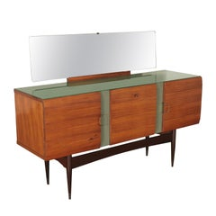 Vintage Buffet with Mirror, Italy, 1950s