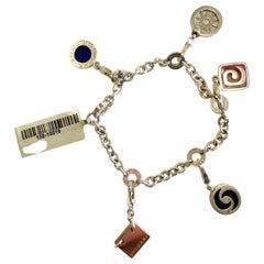 Vintage Bulgari Charm Bracelet in 18 Karat White Gold