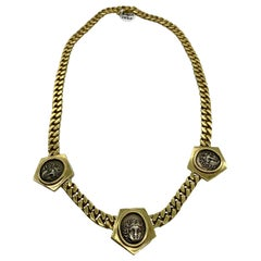 Vintage Bulgari Monete Ancient Greek Coin Chain Necklace