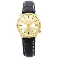 Vintage Bulova Accutron 14 Karat Yellow Gold Quartz Men's Watch