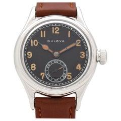 Vintage Bulova WWII-Era Military Watch, 1940s