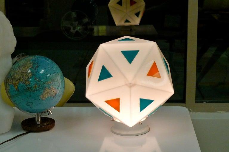 Vintage Burger Chef Icosahedron Glass Globe Lights For Sale 1