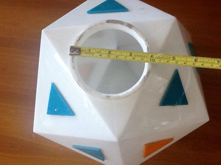 Vintage Burger Chef Icosahedron Glass Globe Lights For Sale 2