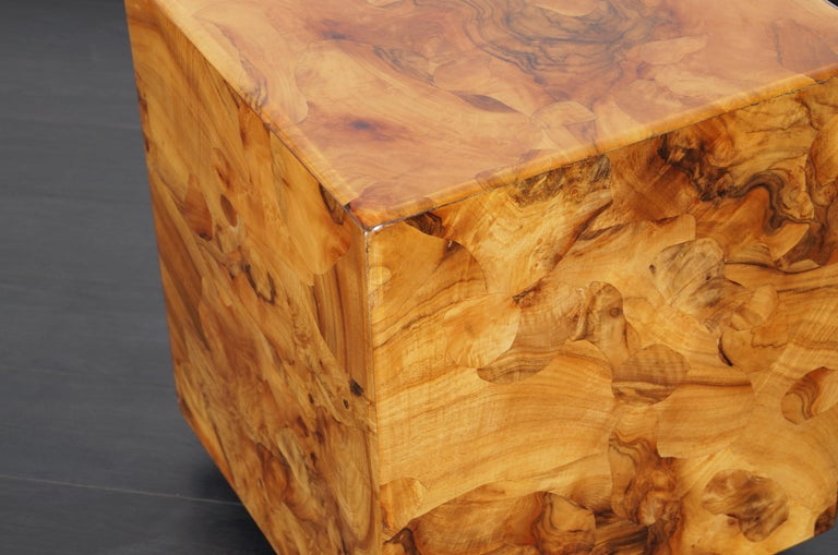 Vintage Burl Wood Side Tables By Pace Collection For Sale At 1stdibs