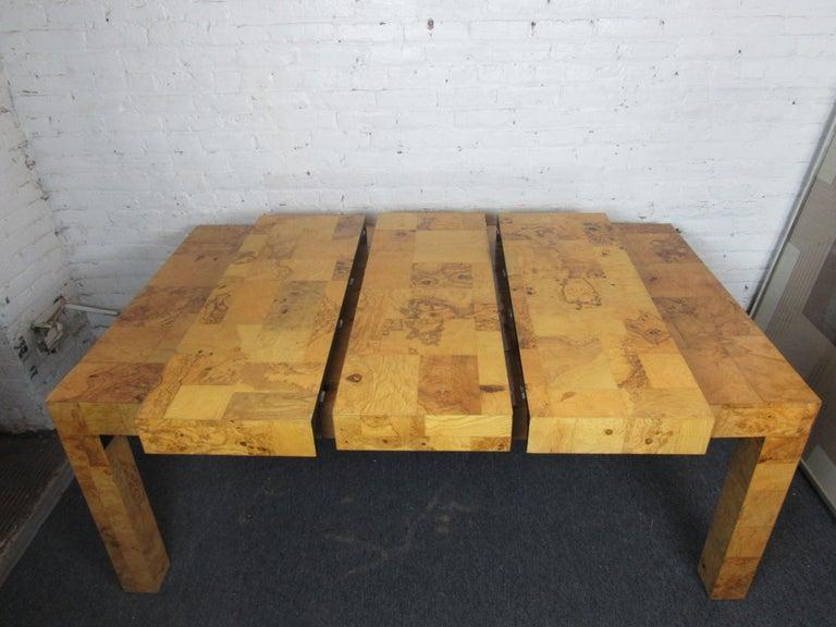 Vintage Burlwood Dining Room Table by Paul Evans For Sale 4
