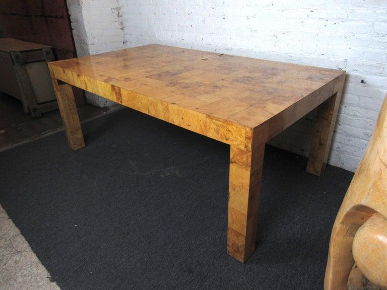 Mid-Century Modern Vintage Burlwood Dining Room Table by Paul Evans For Sale