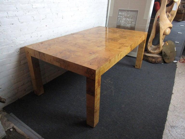 American Vintage Burlwood Dining Room Table by Paul Evans For Sale