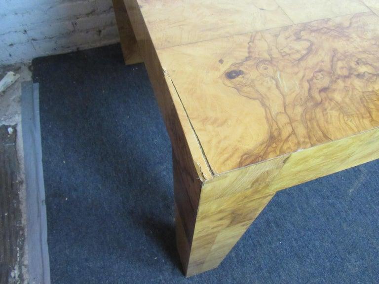Vintage Burlwood Dining Room Table by Paul Evans For Sale 1