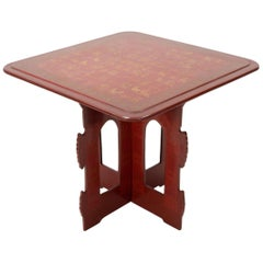 Vintage Burmese Lacquered Side Table