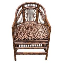 Vintage Burnt Bamboo Brighton Chair