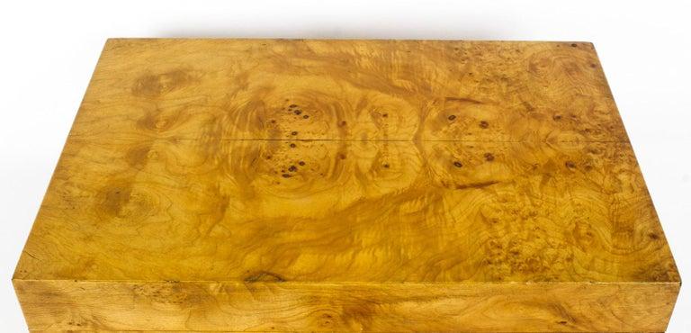 Wood Vintage Burr Elm Cigar Humidor, Mid-20th Century For Sale