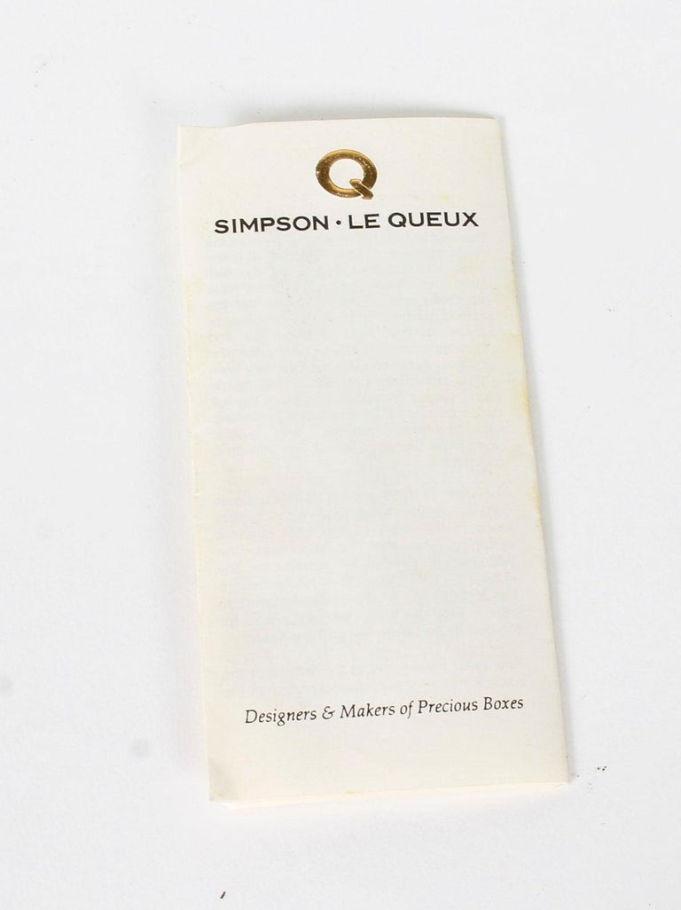 Vintage Burr Walnut Cigar Humidor by Simpson Le Queux, 20th Century 13