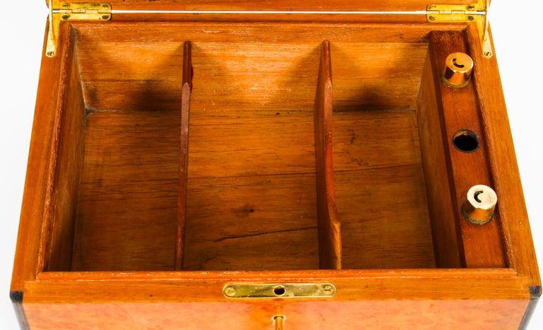 Mid-20th Century Vintage Burr Walnut Humidor Harrods Mid 20th Century