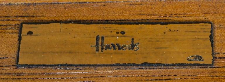 Vintage Burr Walnut Humidor Harrods Mid 20th Century 1