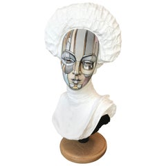 Vintage Bust of a Young Women, Signed David Gilmore, USA, 2019
