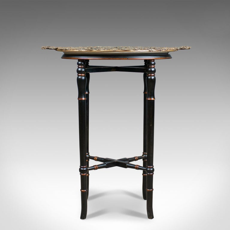 Enamel Tray Coffee Table: Vintage Butlers Tray Table, Italian Mannerist Revival