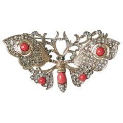 Vintage Butterfly Trembler Brooch