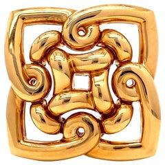 Vintage Bulgari 18 Karat Gold Brooch