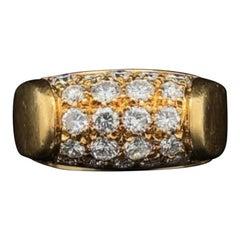 Vintage Bvlgari Diamond Ring 18 Karat Yellow Gold