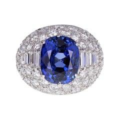 Bulgari Trombino Unheated Ceylon Sapphire Diamond Ring