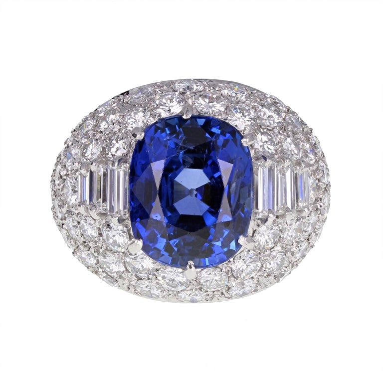 Bulgari Trombino Unheated Ceylon Sapphire Diamond Ring