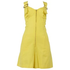 Vintage Byblos Yellow Romper with Grommets 1982