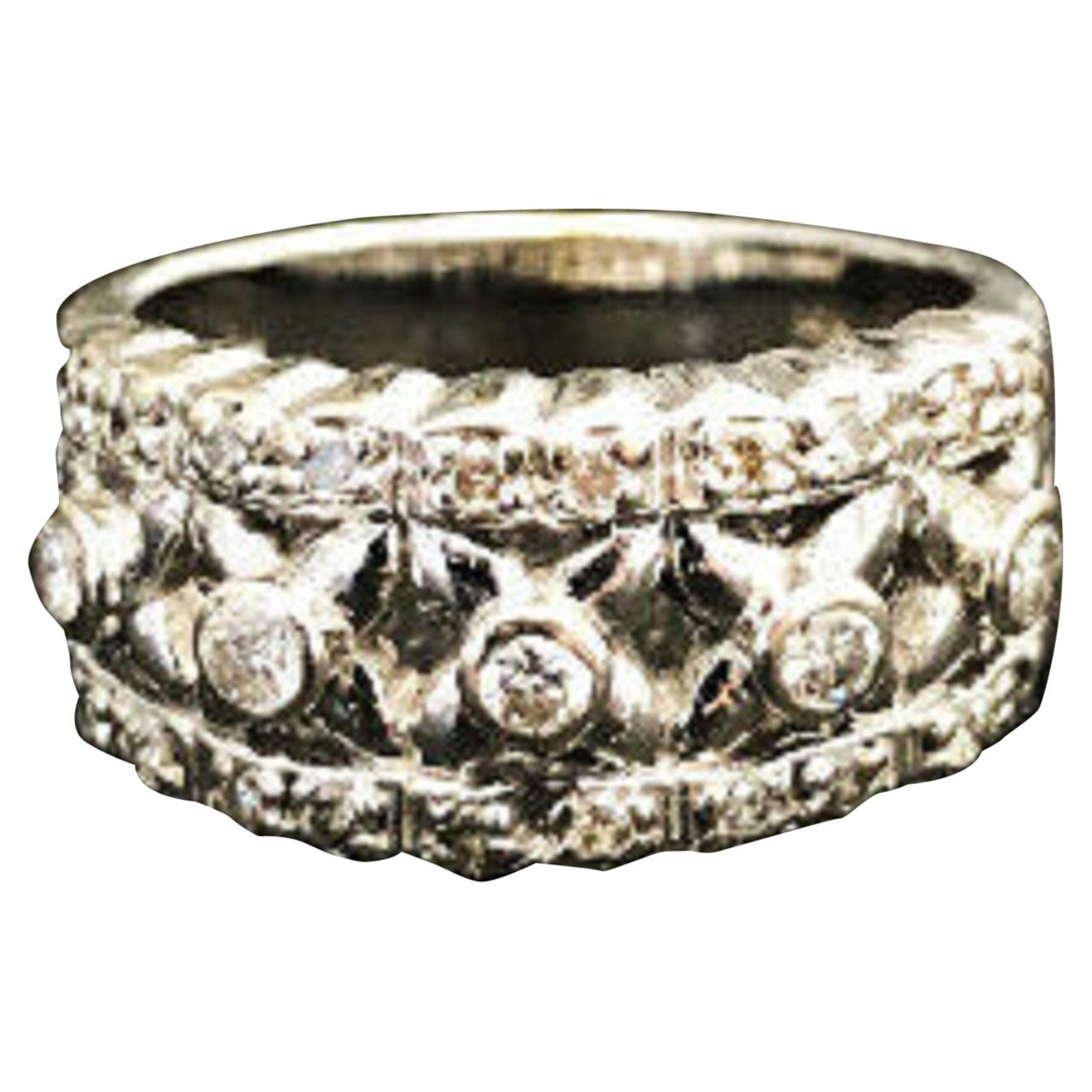 "Vintage ""Byzantine"" Style Diamond Ring"