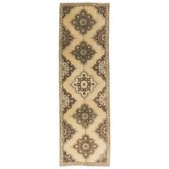 5x11.7 Ft Vintage C. Anatolian Oushak Runner Rug, Ideal for Modern Home & Office