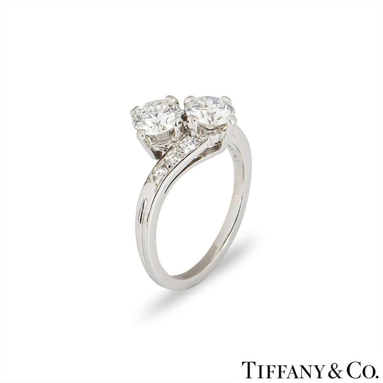 Round Cut Tiffany & Co.  Vintage circa 1960s Diamond Engagement Ring in Platinum For Sale